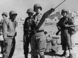 Lt General George Patton Leading Invasion Troops in Sicily July 11  1943 During World War 2