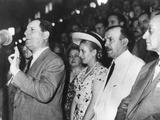 Argentine President Juan Domingo Peron Addressing an Assembly in Buenos Aires