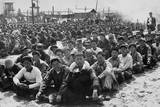 North Korean and Chinese Communist Prisoners Assembled in a Un Pow Camp at Pusan  Korea