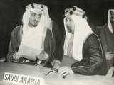 Saudi Arabian Delegates to the United Nations Session in London  Jan 17  1946