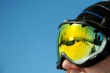 Reflection in Ski Goggles with a View from Grouse Mountain