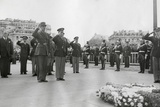 Generals Dwight Eisenhower and Charles De Gaulle Salute the Tomb of the Unknown Soldier in Paris