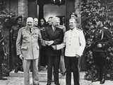 Joseph Stalin  Harry Truman  and Winston Churchill at the Potsdam Conference