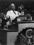 President Harry Truman Delivering His Acceptance Speech at Democratic National Convention