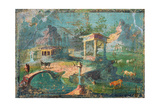 Landscape with Temples  Statues  Herders and Animals  C 50-79