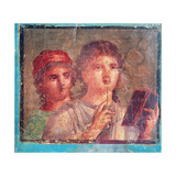 Young Roman Girls with Wax Tablet and Stylus  C 49-79