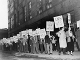 Picket Line of the Newspaper Guild of New York in 1950