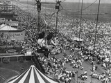 Beach Crowds as Seen from the Parachute Jump at Steeple Park  Coney Island  NY  1950