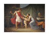 Pirro Threatens Astyanax  Who Runs to His Mother's Arms  Abbondio Bagutti  1814-15