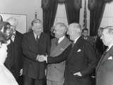 James Byrnes (Right) Congratulating George Marshall Upon His Swearing in as Secretary of State