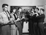 High School Students Playing Clarinets and Trumpets Oak Ridge  Tennessee
