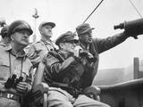 US Commanders Observe the Shelling of Inchon  Korea  from the USS Mt Mckinley