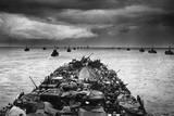 A Lst (Landing Ship Tank) En Route for the Invasion of Cape Sansapor  New Guinea