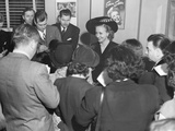 Margaret Truman  Holds a Press Conference in the Office of Her Manager  James Davidson