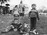 African American Boys with an Easter Basket at the Annual White House Easter Egg Roll