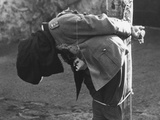 German General Anton Dostler'S Body Slumps after His Execution by a Firing Squad at Aversa  Italy