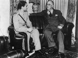 Reza Pahlevi  Shah of Iran  with President Roosevelt During the Teheran Conference
