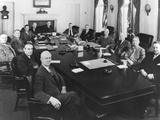 President Harry Truman with His Cabinet and Other Top Advisors  Feb 11  1949