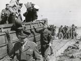 US Chiefs Make Inspection in France a Week after the D-Day Invasion in Normandy  June 14  1944