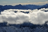 "View from the ""Nebelhorn"" Mountain in Bavaria in Winter"