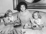 First Lady Jacqueline Kennedy with American Heart Association Heart Fund Twins