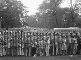 Crowd Control at the White House Fence on V-J Day  August 14  1945