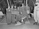 Released Pows  a B-29 Crew Pose with their Flight Nurses at Tachikawa Air Base  Japan