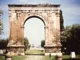 Roman Ear Triumphal Arch in Tarragona  Spain 1st C BC