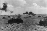 German Tanks Crossing Flat Fields in Ukraine in June-July 1941