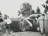 Rioters Overturn and Smash a Car on the Paul Robeson Concert Grounds Near Peekskill  NY