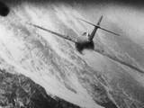 Gun Camera Photo of a Mig-15 Being Attacked by a USAF Fighter During the Korean War  1950-53