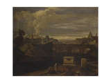 Classical Landscape with Roman Temples and Urban Scene  Ca 1763-79
