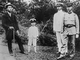 Four Sons of the Mikado in the Emperor's Garden at Nikko Villa
