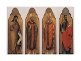 Four Saints  John the Baptist and Paul with Holy Bishops