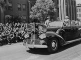 President Harry Truman Waving to Soldiers Wounded in Pacific Combat