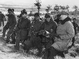 General Douglas Macarthur at the Front Lines Above Suwon  Korea  Jan 29  1951