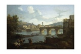 Tiber with the Ponte Rotto  Rome  1725-50