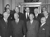 President Dwight Eisenhower with the Supreme Court on Nov 13  1953