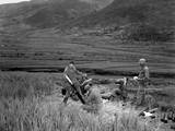 US Soldiers of a 42 Mortar Crew Returns Enemy Fire in Battle of Masan in South Korea