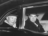 President Eisenhower and Vice President Richard Nixon in a Limousine