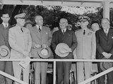 Civilian and Military Leaders at the Arm Forces Day Parade  May 20  1950