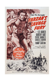 Tarzan's Savage Fury  Top from Left: Dorothy Hart  Lex Barker  Tommy Carlton  1952