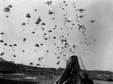 US Paratroopers Jumped from C-119's to Cut Off Retreating Enemy Units South of Munsan  Korea