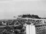 A Plane Dusts the Ancient City of Athens with DDT Prevent the Spread of Cholera
