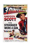 The Stranger Wore a Gun  from Bottom Left: Claire Trevor  Randolph Scott  1953