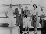 Henry Luce  Allen Dulles  Clare Boothe Luce  and Billie Cassady  (L-R) Aboard the Yacht 'Niki'