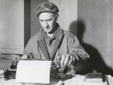 Ernie Pyle  War Correspondent  at His Typewriter While Reporting from the Anzio Beachhead  Italy