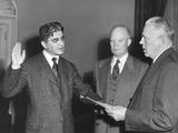Arthur Burns Sworn in as a Member of the President's Council of Economic Advisors