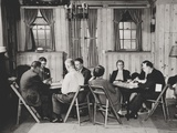 Groups of Men and Women Playing Bridge in Manhattan Alcoholics Anonymous Club Room