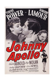 Johnny Apollo  from Left: Dorothy Lamour  Tyrone Power  Edward Arnold  1940